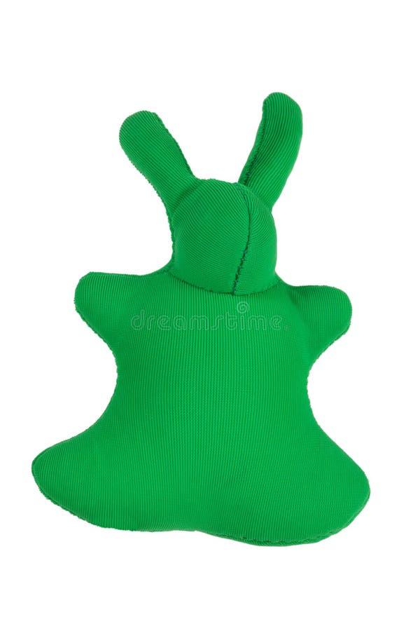 Un lapin mou de chiffon pour la détente images stock