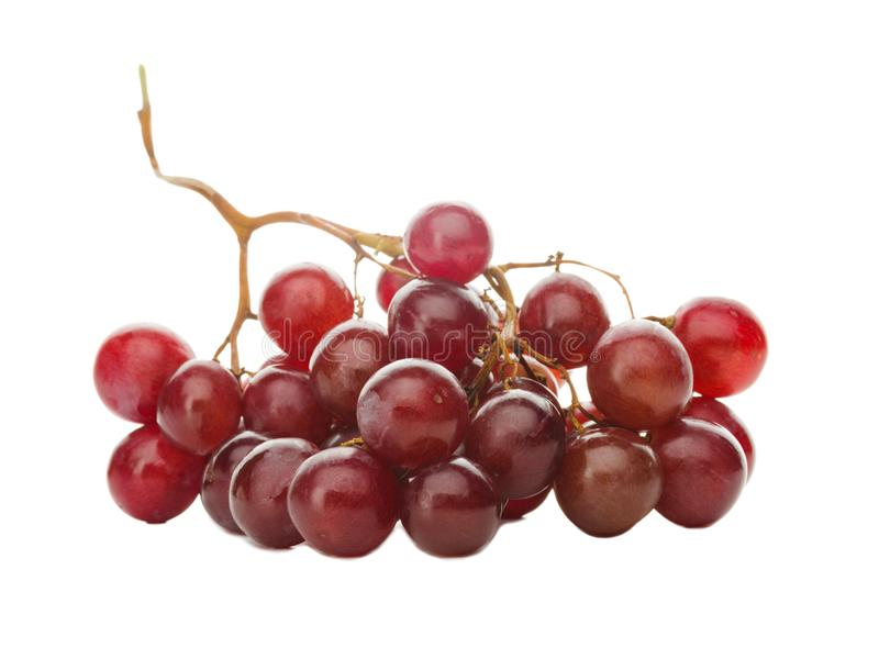 Un largegrape des raisins rouges D'isolement sur le fond blanc photo stock