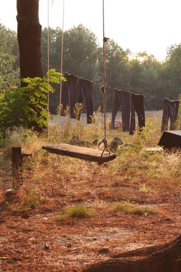 Un lavadero perfecto del oscilación del país foto de archivo libre de regalías