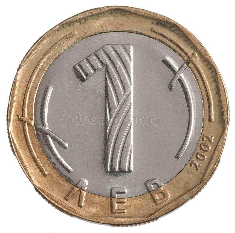 Un lev de Bulgare de pièce de monnaie photo stock