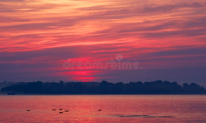 Un lever de soleil de compartiment de chesapeake image stock