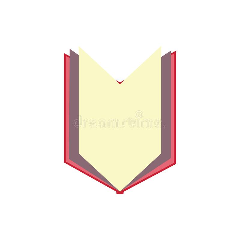 un libro que abre y muestra la página media stock de ilustración