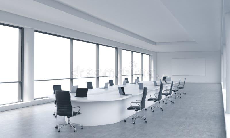 Un lieu de réunion panoramique moderne lumineux dans un bureau