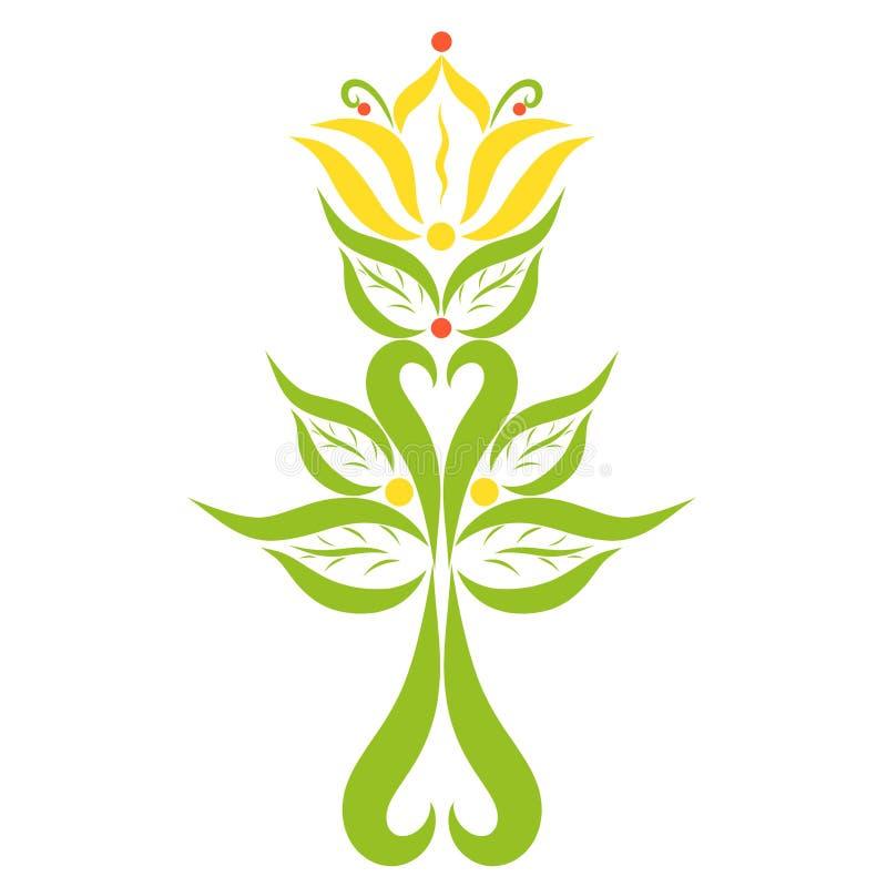 Un lirio colorido floreciente con una cruz en la base, un Ch creativo libre illustration