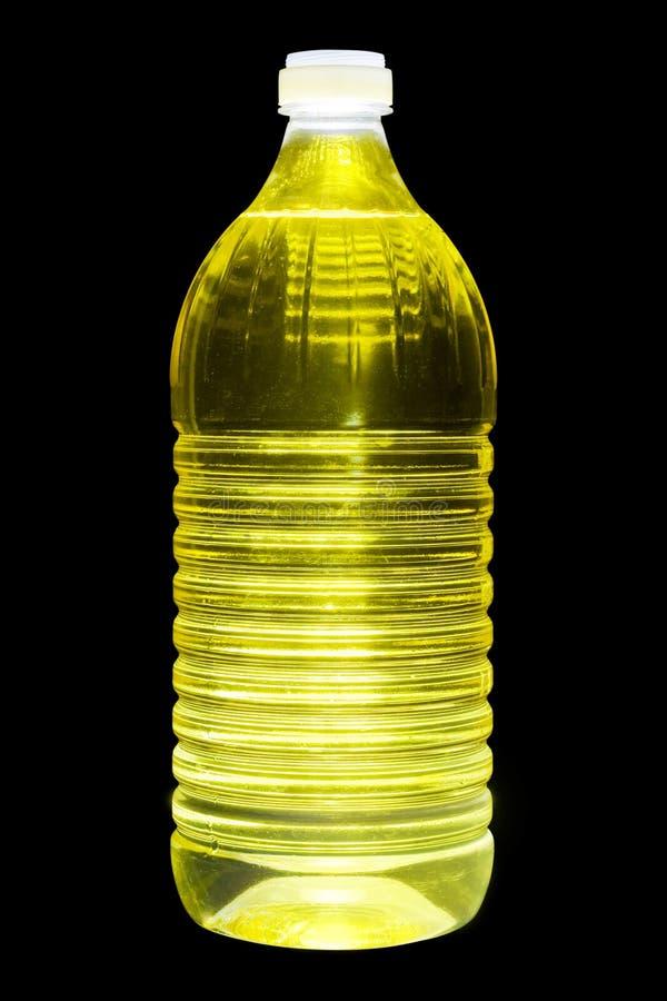 Un litro di olio del seme di girasole fotografie stock libere da diritti