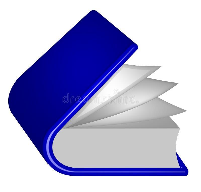 un livre bleu illustration stock illustration du livre 11033695. Black Bedroom Furniture Sets. Home Design Ideas