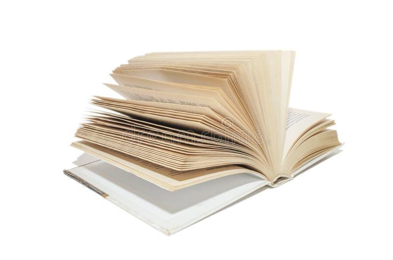 Un livre pour la lecture et les exercices en isolation images stock