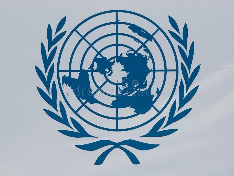 UN logo royalty free stock photo