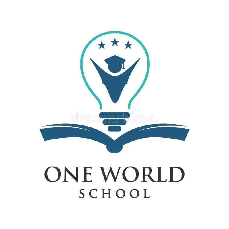Un logo d'école de mot illustration de vecteur