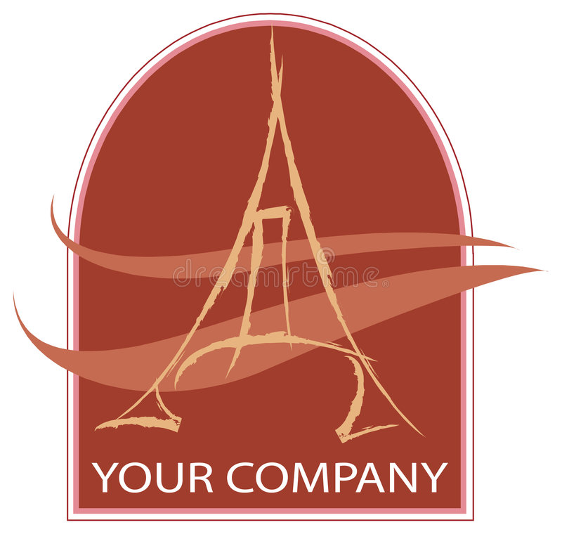 Un logo d'Eiffel illustration stock