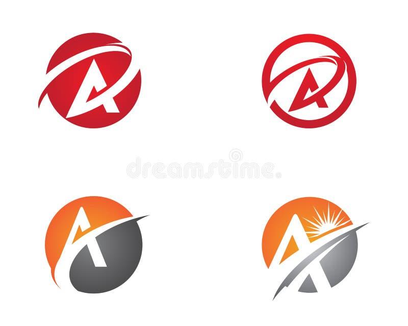 Un logo della lettera illustrazione di stock