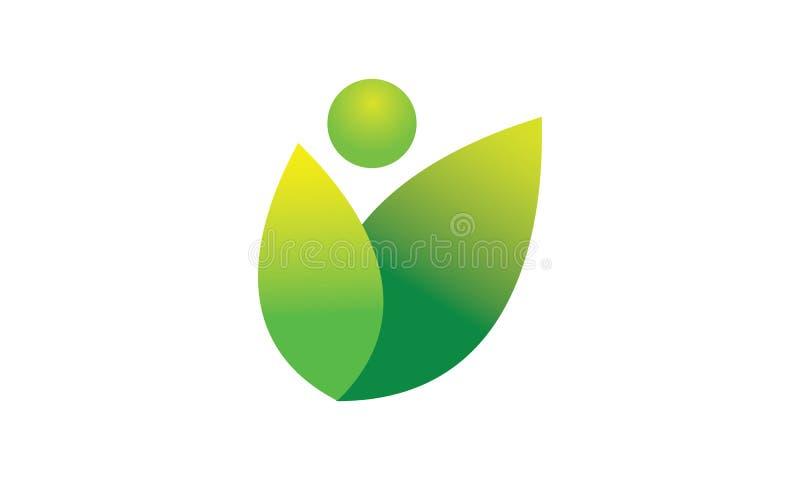 Un logo moderne simple en vert pour la nature a rapporté des buts illustration de vecteur