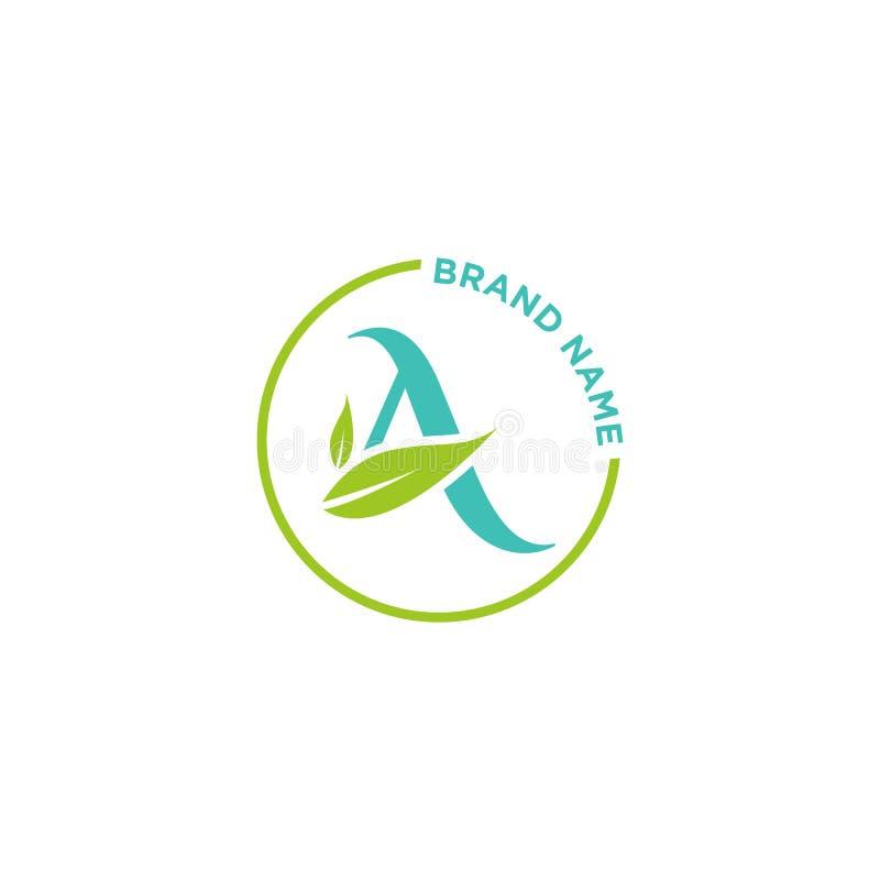 Un logo o iniziali della lettera per l'affare illustrazione di stock