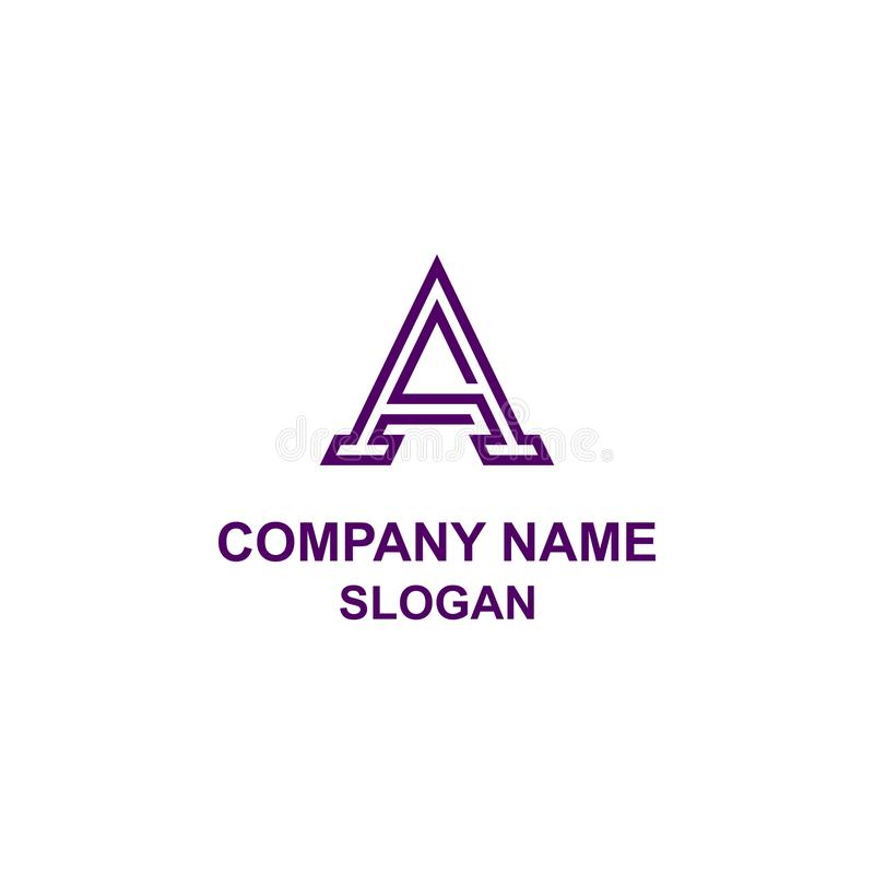 Un logotipo de la inicial de la letra stock de ilustración