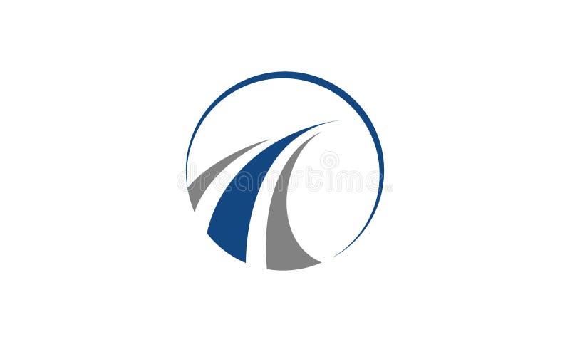 Un logotipo redondo simple para la empresa de negocios stock de ilustración