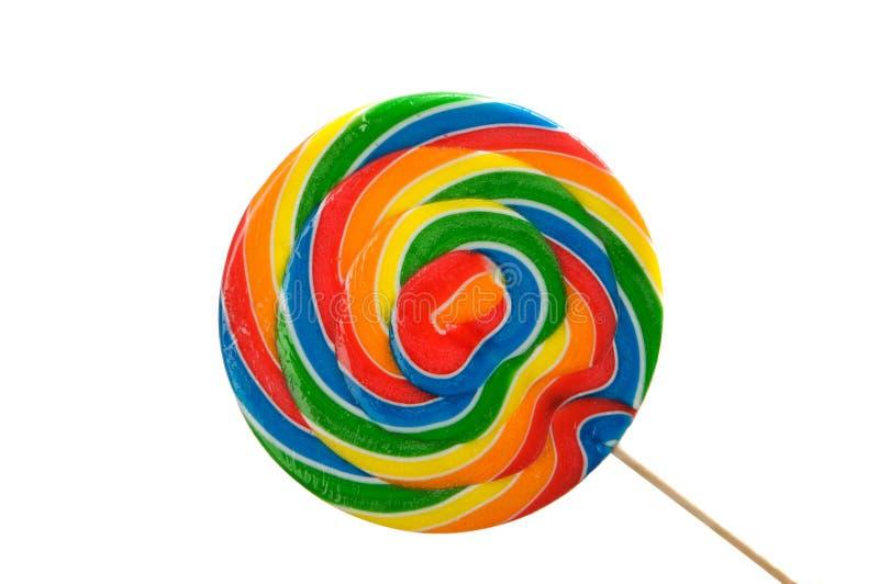 Un lollipop brillantemente coloreado grande fotografía de archivo