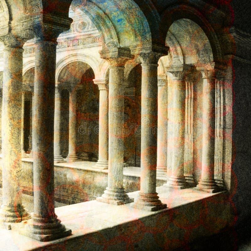 Un lugar en Roma ilustración del vector