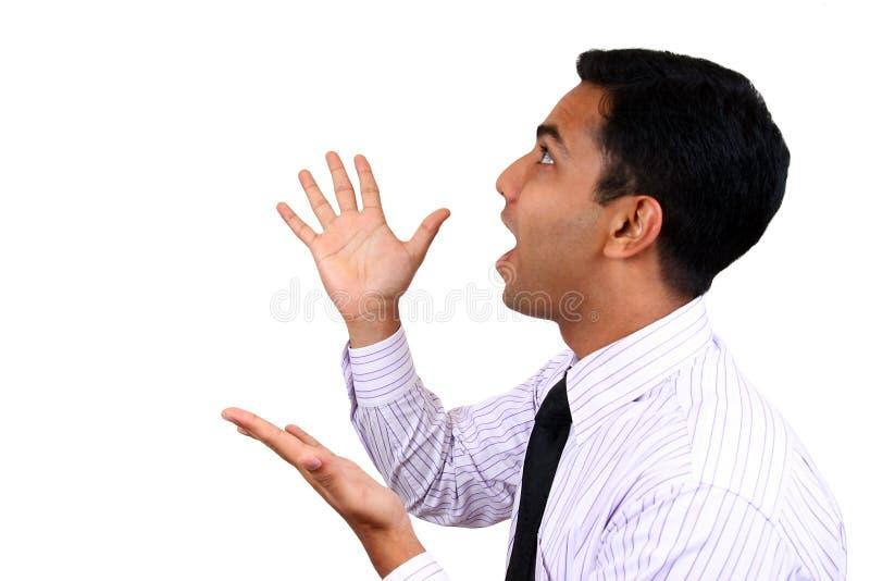 Un mâle indien expressif. image stock