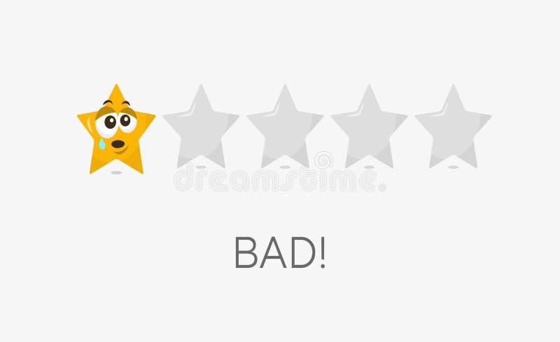Un mún símbolo de clasificación de la estrella stock de ilustración