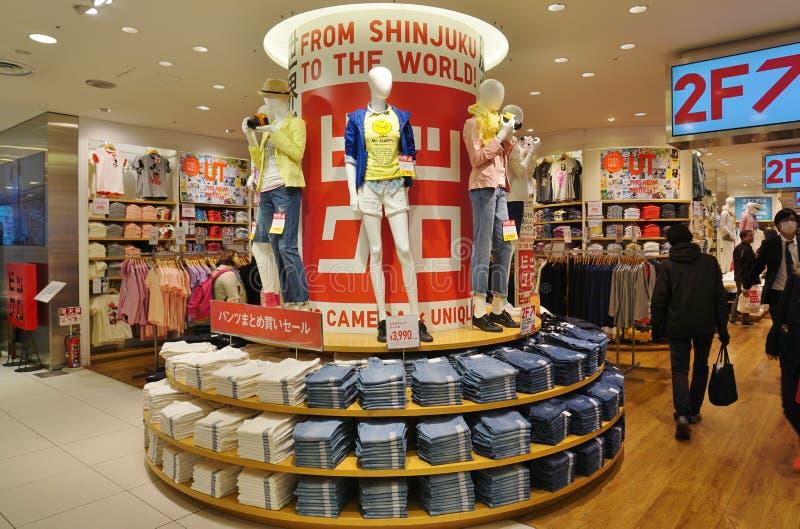 Un magasin d'habillement d'UNIQLO à Tokyo, Japon image libre de droits