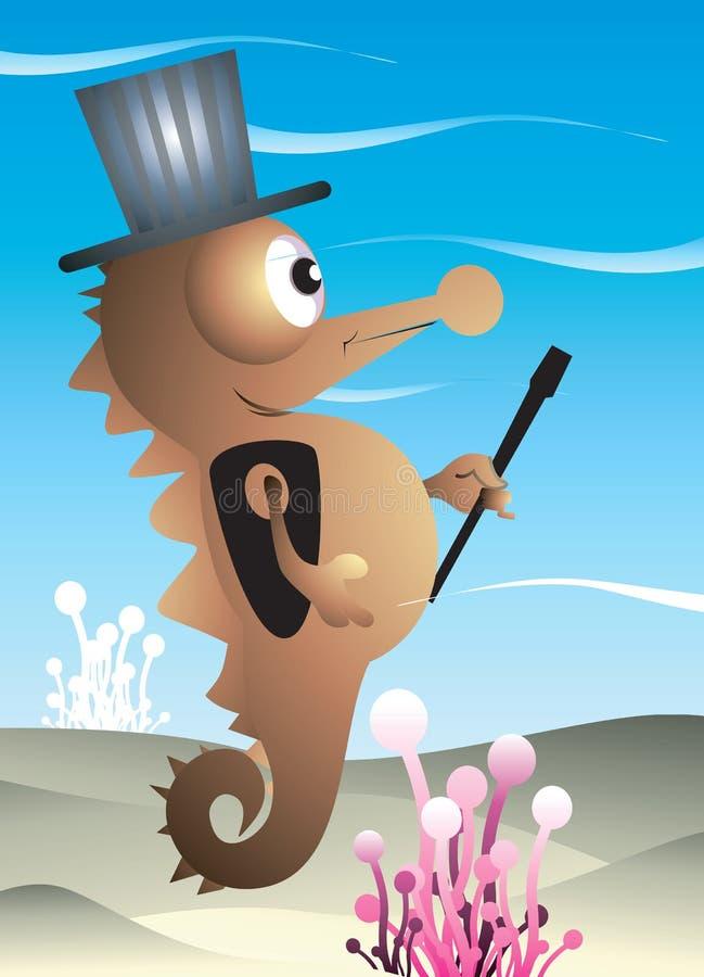Un magicien d'hippocampe illustration libre de droits