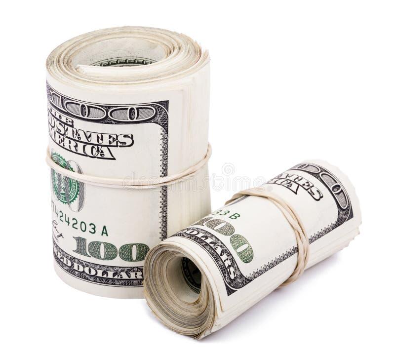 Dos 100 US$ Rolls imagen de archivo libre de regalías