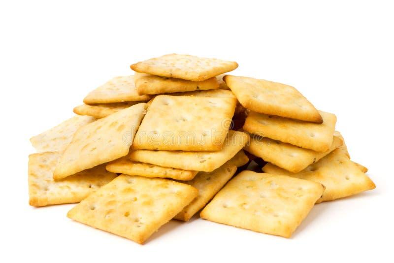Un manojo de galletas en un blanco aisladas foto de archivo libre de regalías