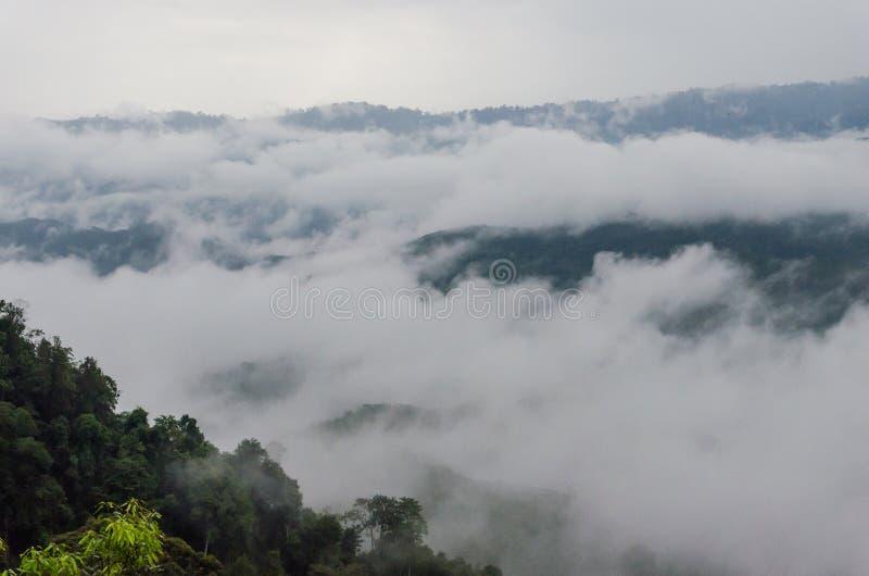 Un mar de la niebla, Betong imagenes de archivo