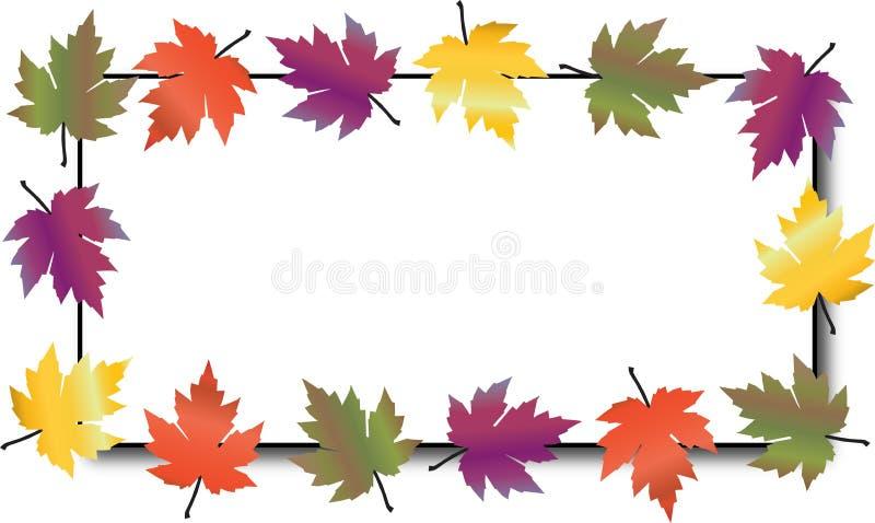 Un marco colorido de la caída del otoño de las hojas stock de ilustración