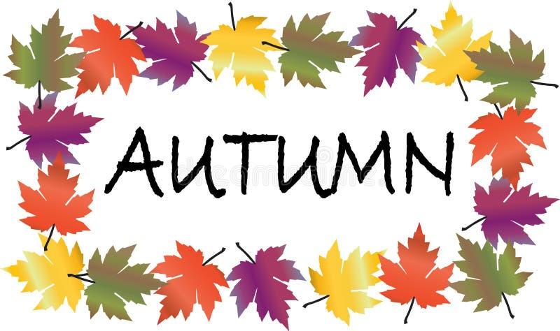 Un marco colorido de la caída del otoño de las hojas libre illustration