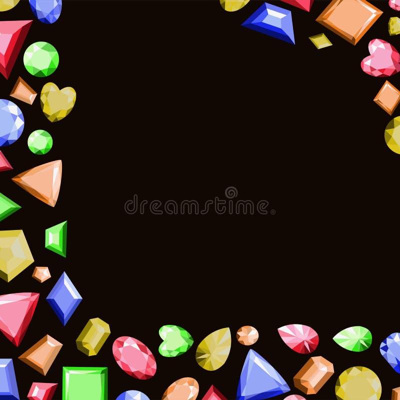 Un Marco De Las Piedras Preciosas Multicoloras De Diversas Formas ...