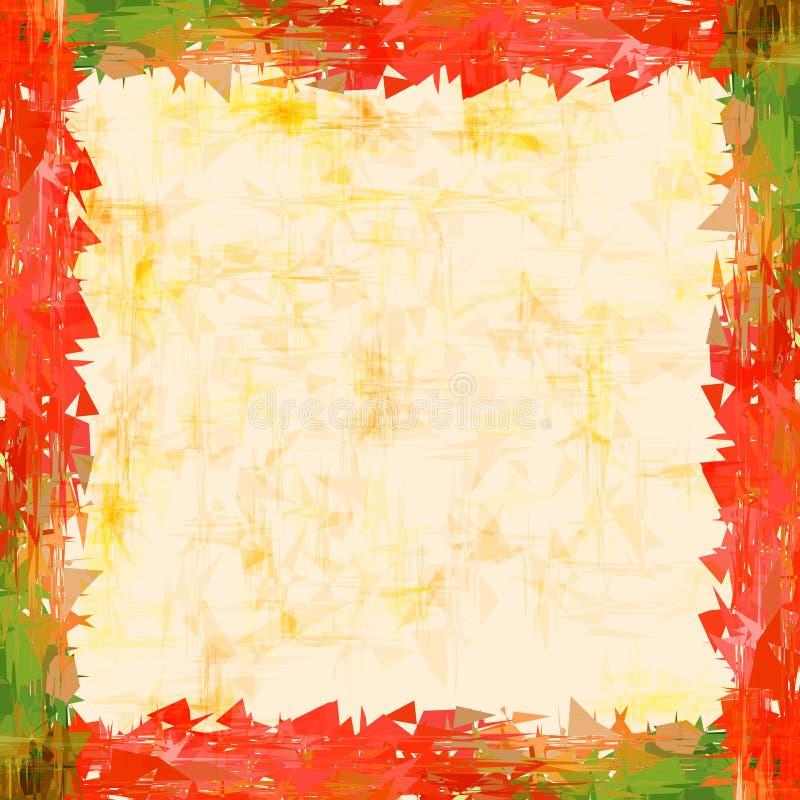 Un marco de una imagen abstracta de una amapola o de un aster para los decoros ilustración del vector