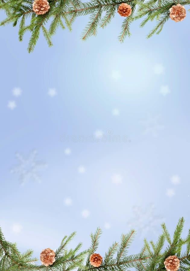 Un marco del pino stock de ilustración