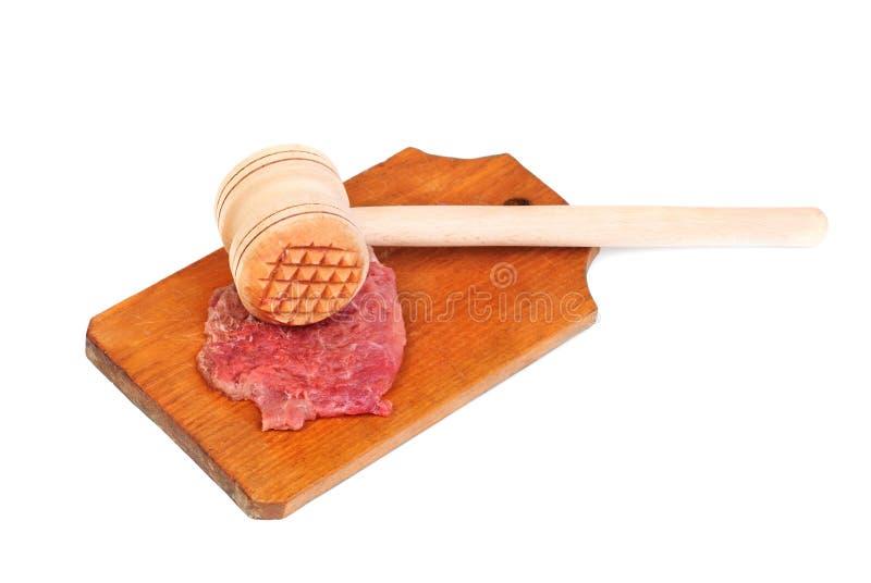 un marteau en bois pour battre la viande et la viande image stock image du gros partie 36613659. Black Bedroom Furniture Sets. Home Design Ideas