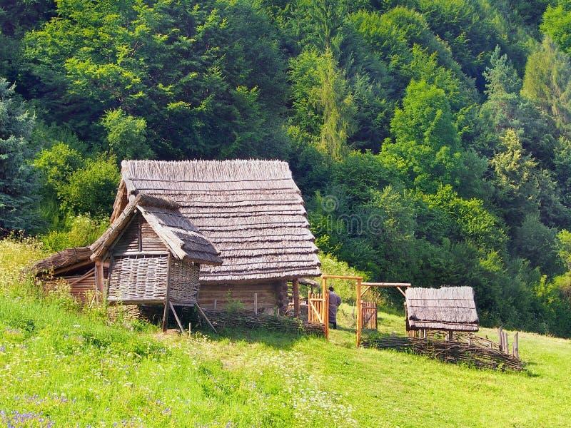 Un maso celtico nel Havranok, Slovacchia fotografie stock
