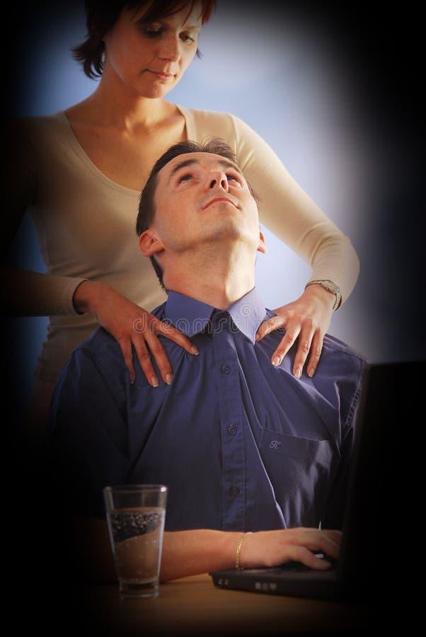 Un massage photo libre de droits