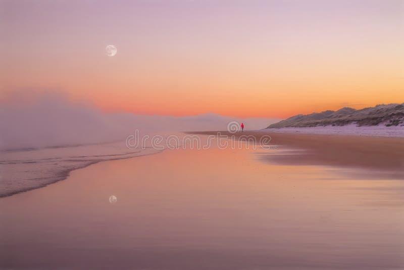 Un matin d'hivers sur la côte photos libres de droits