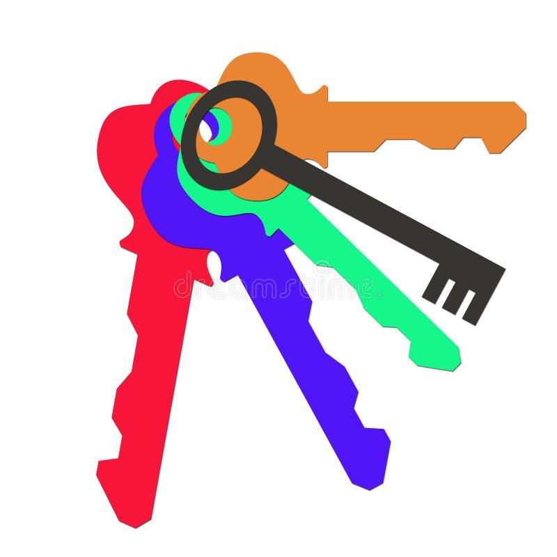 Un mazzo di chiavi colorate illustrazione di stock for Costruire un mazzo di portico