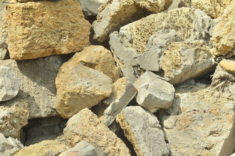 Un mazzo di mattoni della Crimea, un mattone dalle coperture, una struttura immagini stock libere da diritti