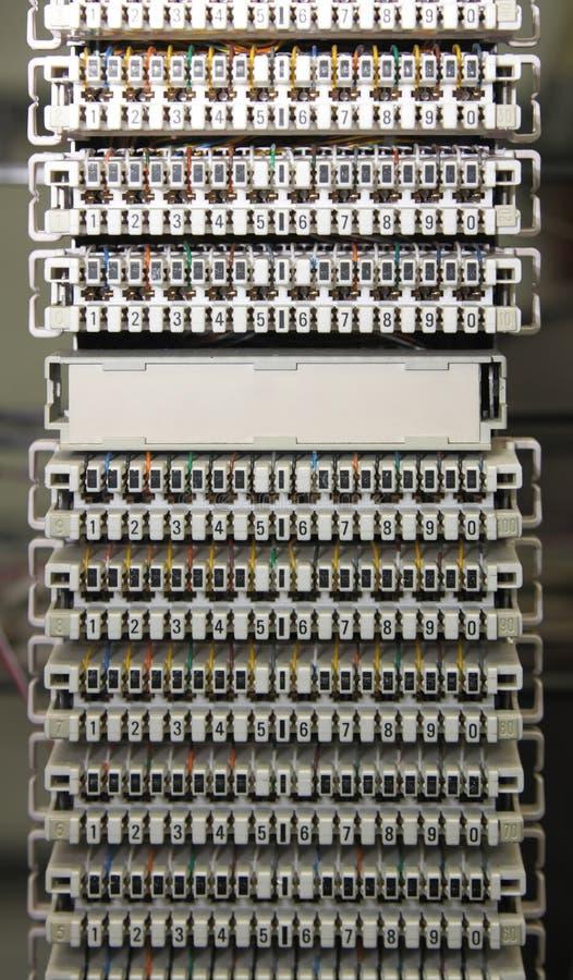 Un MDF di Telecomunications fotografia stock