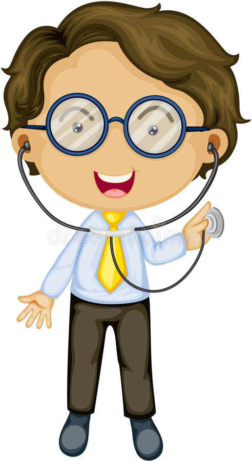 Un medico illustrazione vettoriale