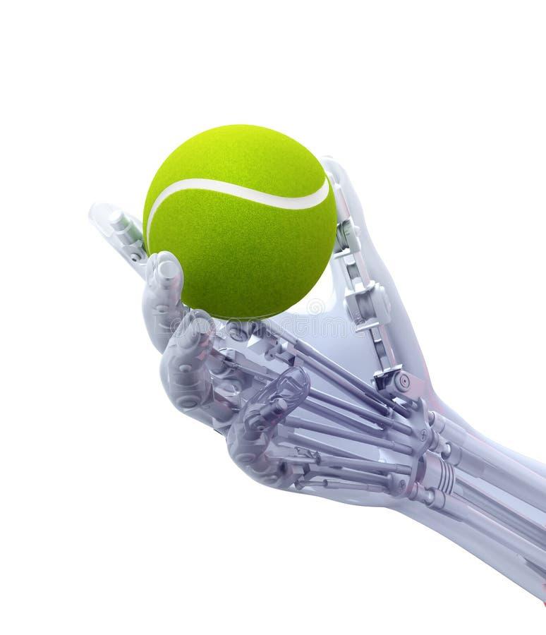Un membre artificiel tenant une balle de tennis photos libres de droits