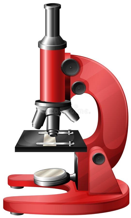 Un microscopio rojo stock de ilustración