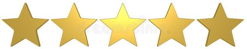 un migliore punteggio di 5 stelle d'oro illustrazione di stock
