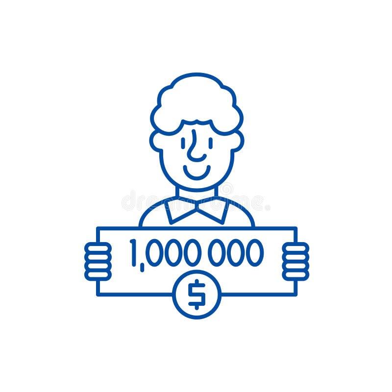 Un mill?n d?lares alinean concepto del icono Un mill?n d?lares de s?mbolo plano del vector, muestra, ejemplo del esquema ilustración del vector