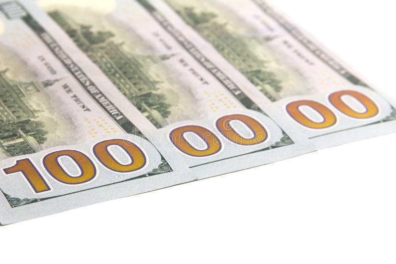 Un million de dolars Trois cents billets d'un dollar aux Etats-Unis Fond blanc Copiez l'espace D'isolement image libre de droits