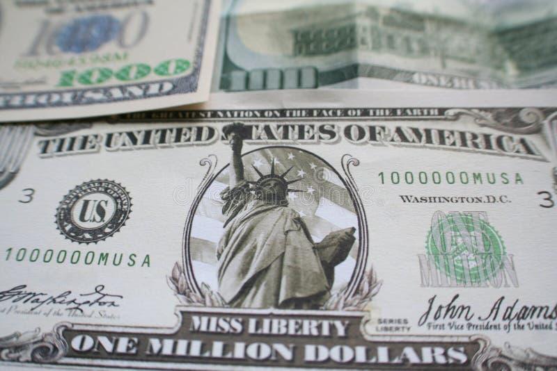 Un million de dollar avec mille et cent billets d'un dollar de haute qualité photo stock