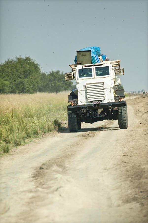 UN minesweeper in Sudan royalty free stock photo