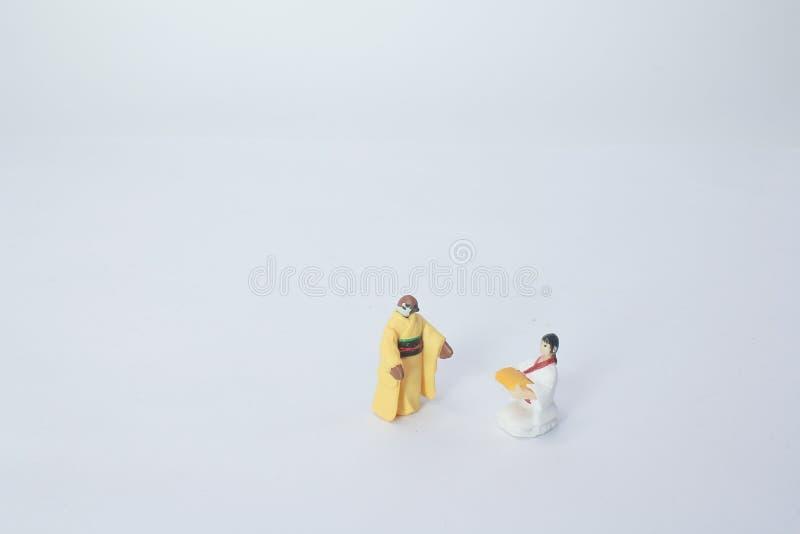 un mini de la figura de la historia tradicional imagen de archivo libre de regalías