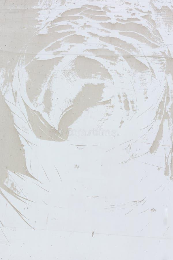 Un modèle abstrait peu commun sur un mur beige pâle Fond vide pour une disposition, texture photo libre de droits